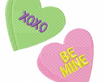 Conversation Hearts -A Machine Embroidery Design for Valentine's Day
