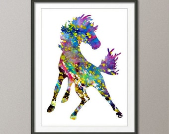 Horse Art, Abstract Art, Horse Print, Room Decor, Horse Art Print