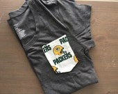 Pocket tee with Green Bay Packers Pocket