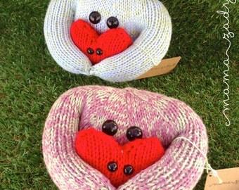 Carl the Comfort Monster - knitted children's toy - sensory comfort plush - travel companion