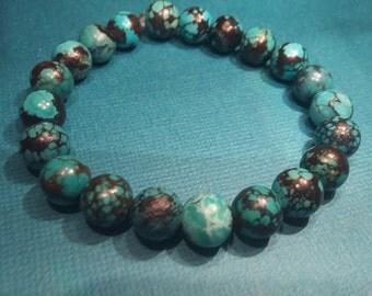 Genuine Natural Turquoise Stretch Bracelet