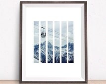 Mountains Geometric Print, Living Room Decor, Mountains Photo Wall Art, Mountain Print, Modern Photography Wall Art, Geometric Prints, Art