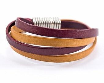 Leather bracelet handmade for man and women