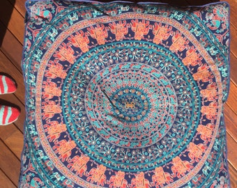 X Large Floor Cushion, Meditation cushion, Dog Bed, pillow, cushion, floor seating, mandala tapestry, tapestry, spiritual, boho decor, bed