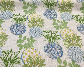 Richloom Pineapples Glade fabric 75% Cotton/25 Linen By the yard