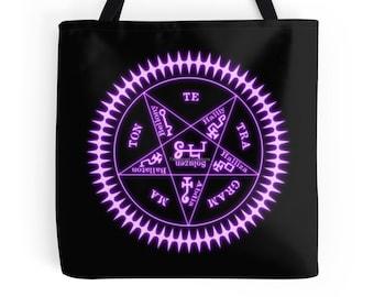 Black Butler Sebastian Michaelis Contract Sigil Tote Bag, 3 Sizes Available