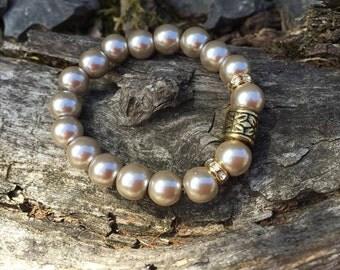 BAMBINI Mocha & Gold Pearl Bracelet