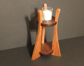 Beautiful Wooden Votive Candle Stand