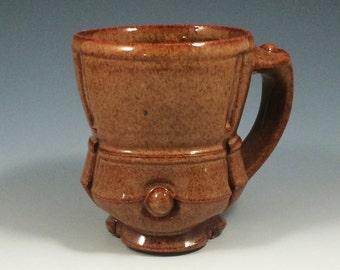 Brown Handthrown Ceramic Pottery Coffee Mug