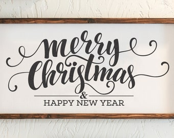 Holiday Sign, Merry Christmas, Happy New Year, Christmas Decor, Wall Decor, Home Decor
