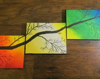 Tripainting Tree Silhoutette