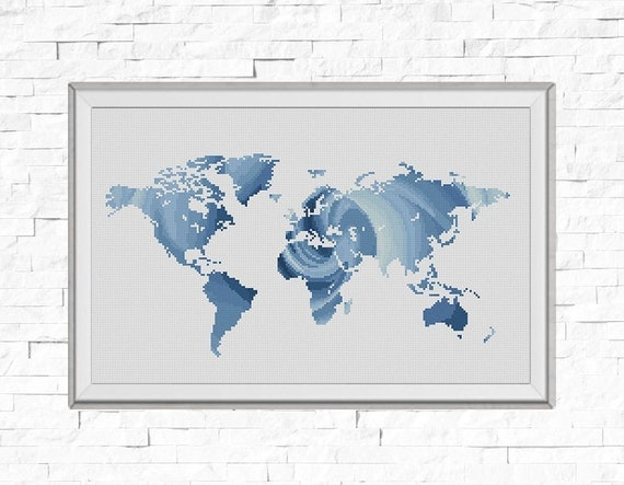 Bogo free map cross stitch pattern world map silhouette rose te gusta este artculo gumiabroncs Choice Image