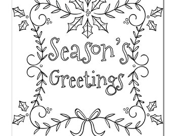 Christmas Coloring Page for Adults Poinsettia Coloring by ...