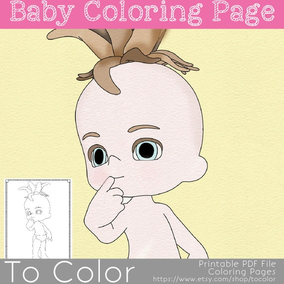 baby item coloring pages - photo#31