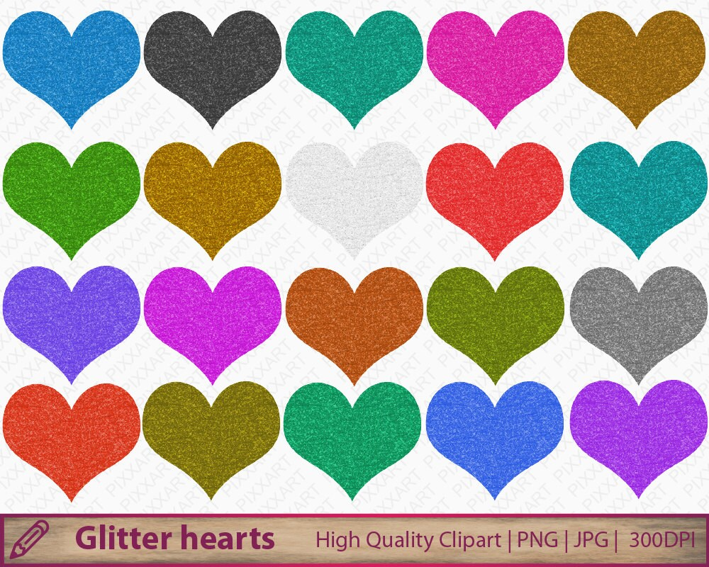 FREE DOWNLOAD   Digital Glitter Hearts - Design Editor