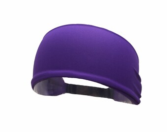Solid Purple Workout Fitness Everyday Crossfit Sweat Wicking Headband