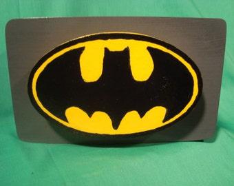 Bank--Wooden Batman Bank, Handmade