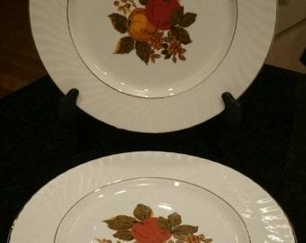 Enoch Wedgwood (Tunstall) Ltd English Harvest Dinner Plates