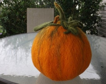 Felted Wool Pumpkin
