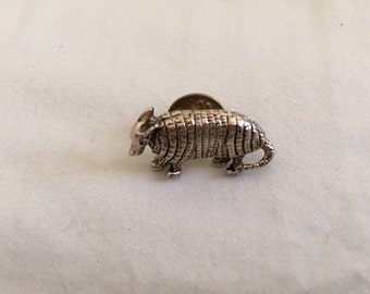 Vintage Armadillo Brooch Pin