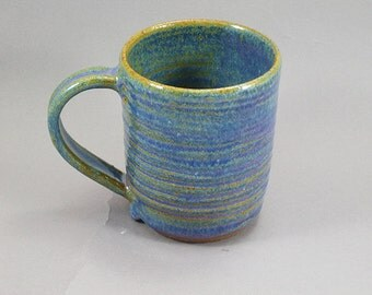 Pottery Coffee Mug Rutile Blue CHUN10