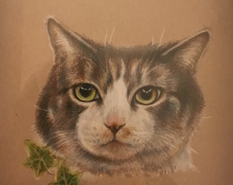 Custom Pet Portrait - Colored Pencil Pet Drawing