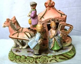 Vintage Victorian Carriage Figurine (Japan)