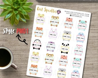 Planner Meetup Stickers Cute Planner Stickers Ready To Ship