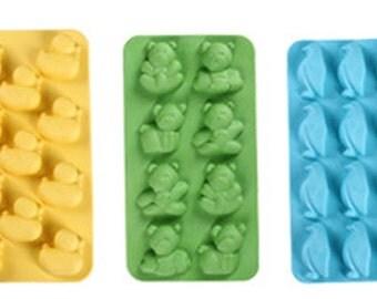 Duck, bear, penguin, creative ice lattice, silicone cake mold, pudding jelly, food-grade, DIY baking tools,