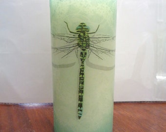 single dragonfly candle
