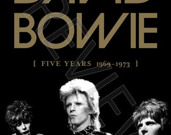 Tshirt - David Bowie: Five Years