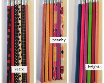 Washi Pencils // decorative pencils // fun pencils // homework pencils // party favors // gold pencils // black pencils // teacher gift