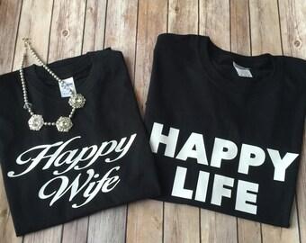 FREE SHIPPING!!!!  Happy Wife Happy Life! Couple Set