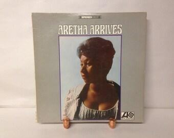 Aretha Franklin Arrives Vintage Vinyl LP Record Album Soul Motown
