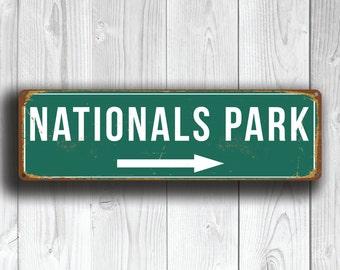 NATIONALS PARK SIGN, Vintage style Nationals Park Sign, Nationals Park Sign, Washington Nationals, Baseball Signs, baseball Gifts, Nationals