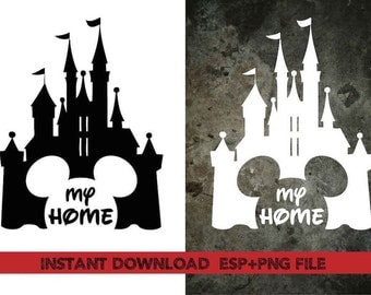 My home disney castle Clip Art,T shirt, iron on , sticker, Vectors files ,Personal Use