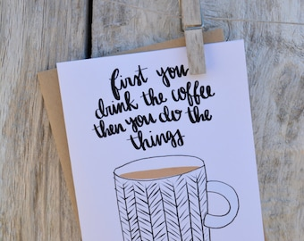 Coffee Greeting Cards (4 options)