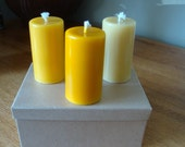 Three Pure Australian Beeswax Candles in a gift box