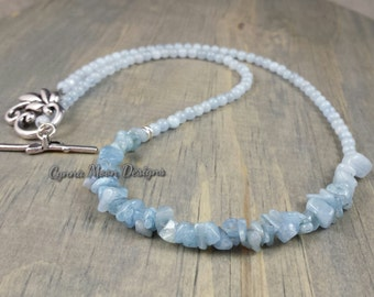 Genuine Aquamarine Necklace
