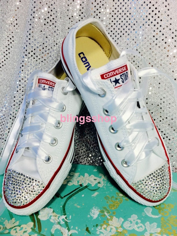 Adult Blinged Swarovski Converse Shoes Crystallized by Blingsshop 80 ... d205610db