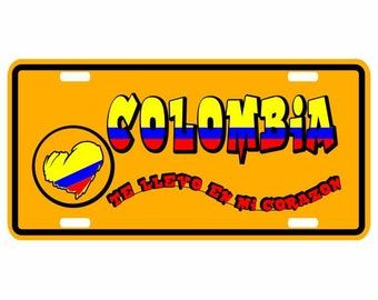Colombia Te Llevo en el Corazon - Colombia Decorative License Plate