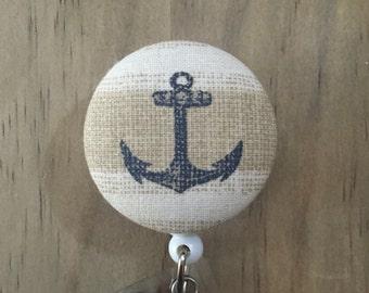 Anchor Button Badge Reel