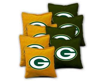 GREEN BAY PACKERS Set of 8 Regulation Cornhole Bags Bean Bag Toss