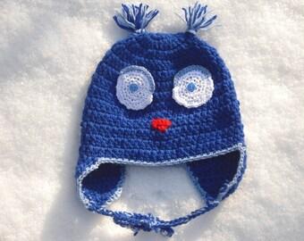 Crochet Beanie - Hat - OWL Hat KU 42-52 cm - hats - handmade