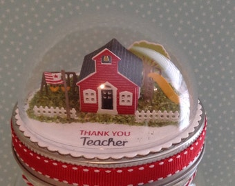 Teacher gift, Teacher jar, School gift, Teacher jar topper