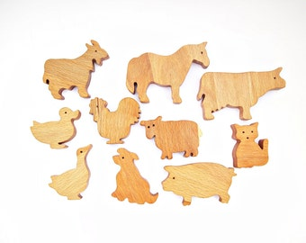 Wooden Toys Pets Eco Natural