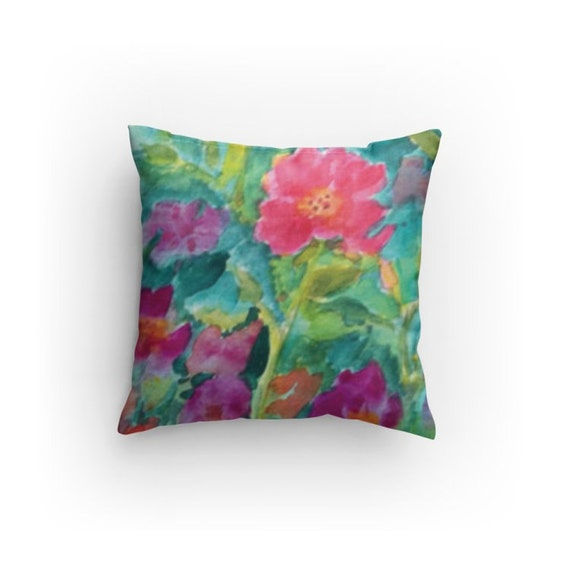 Modern Floral Pillows : Decorative Pillow Throw Pillow Modern Floral Design