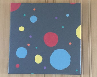 Abstract Acrylic Circles Painting