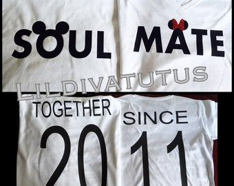 Mickey and Minnie Soul Mate Shirts