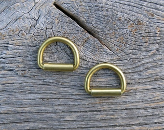 Brass D Rings | Custom Sizes | For Bag Straps | Roller | Inch cm mm